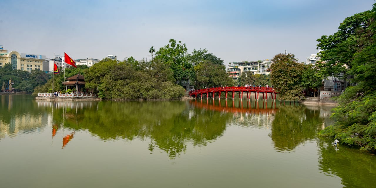 Downtown Hanoi Vietnam
