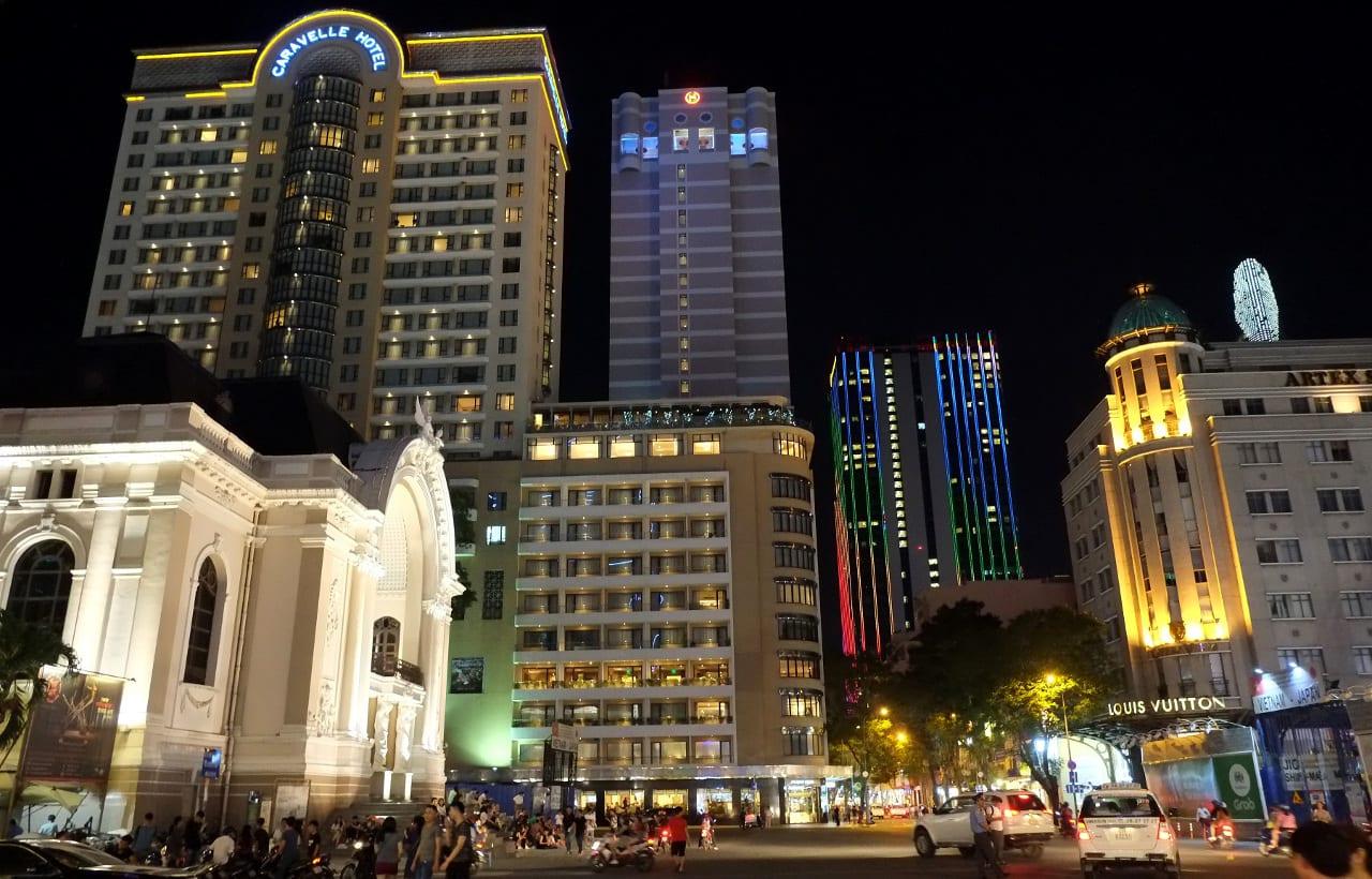 Downtown Saigon Vietnam Opera House Caravelle Hotel