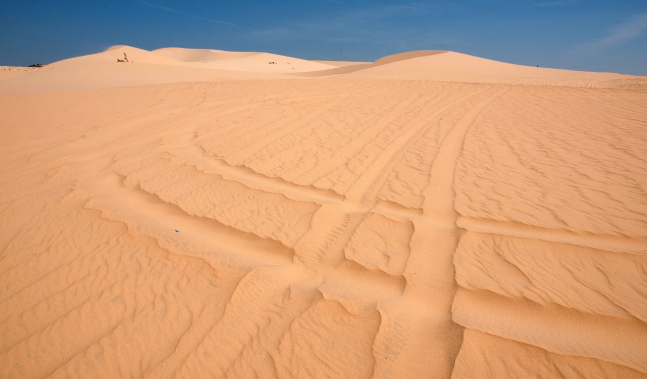 White Sand Dunes Park Mui Ne Vietnam