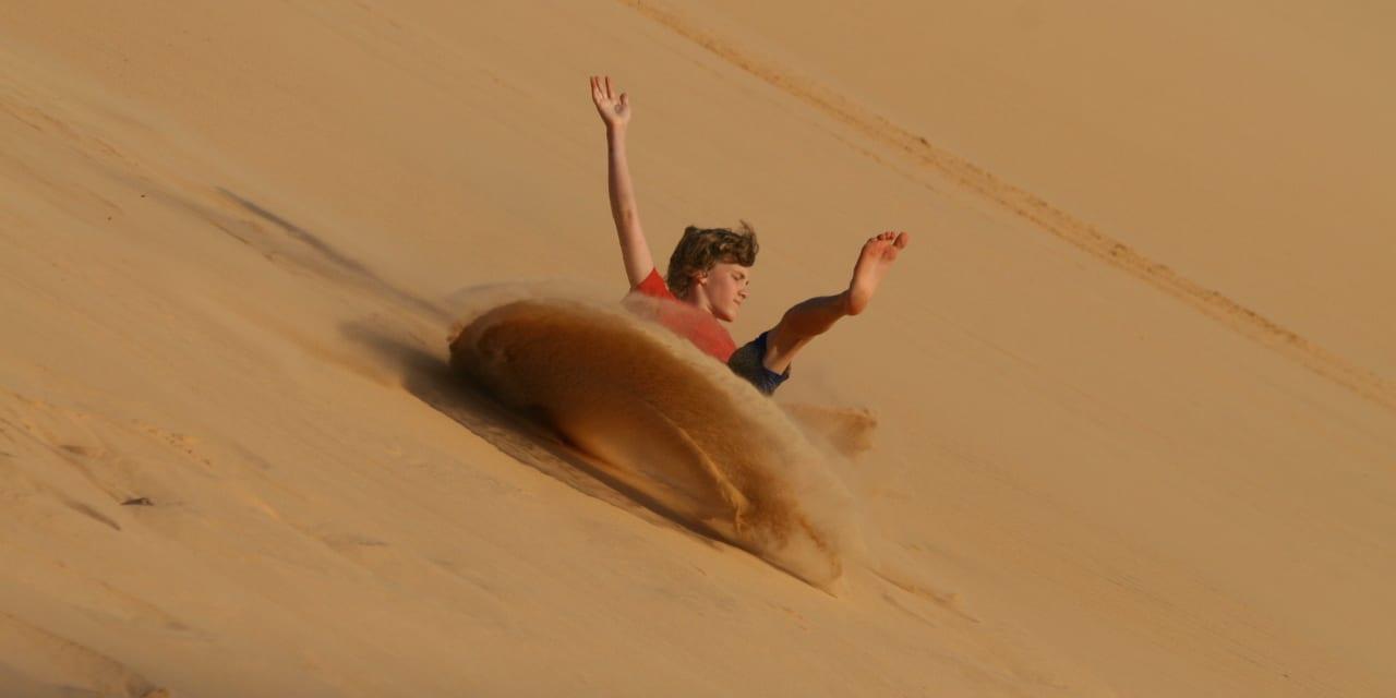 White Sand Dunes Mui Ne Vietnam Sledding