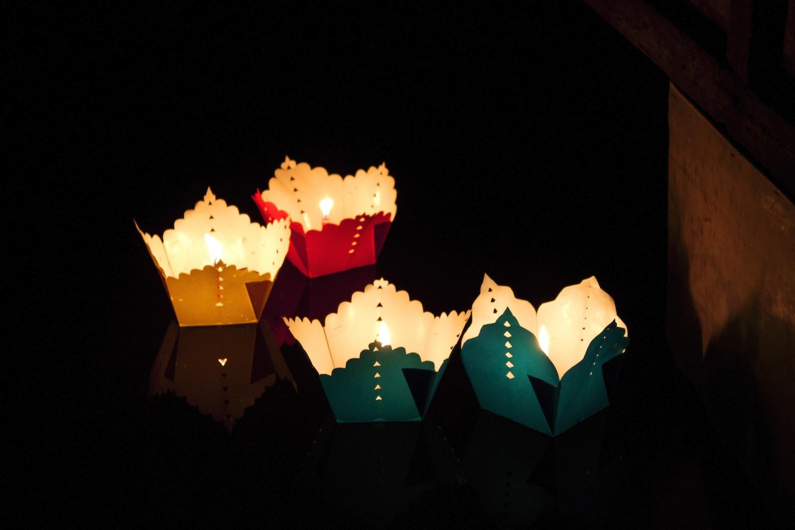 Float Lanterns on the Thu Bon River
