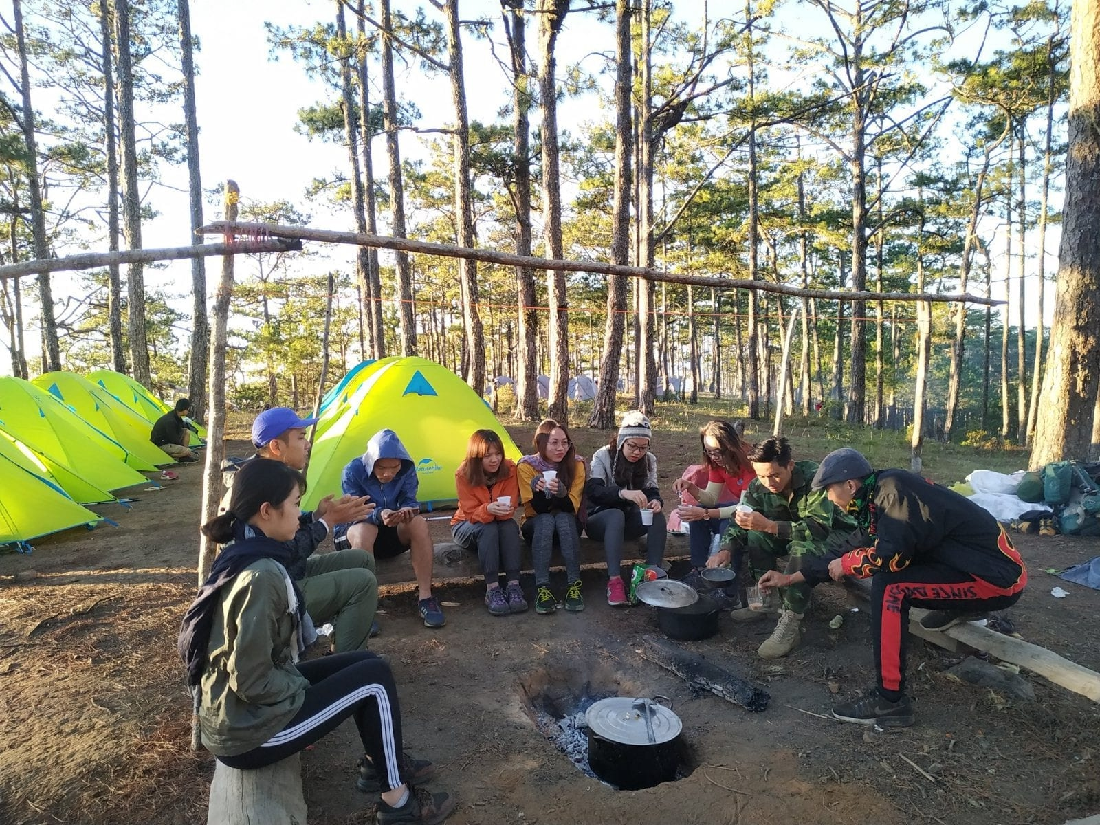 Camping in Bidoup Mountain