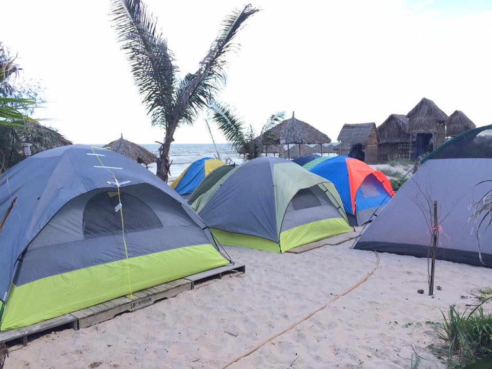 Camping in Son My Beach
