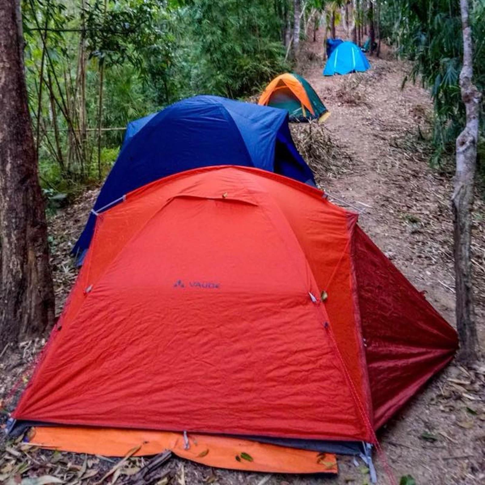 Camping in Ta Dung Lake, Dak Nong Province