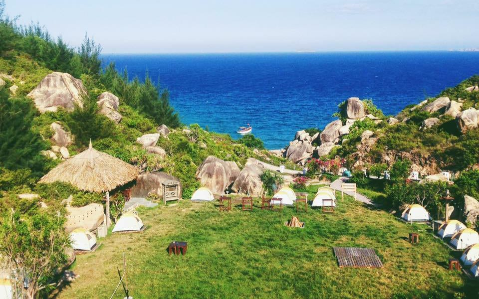 Camping in Trung Luong, Binh Dinh Province