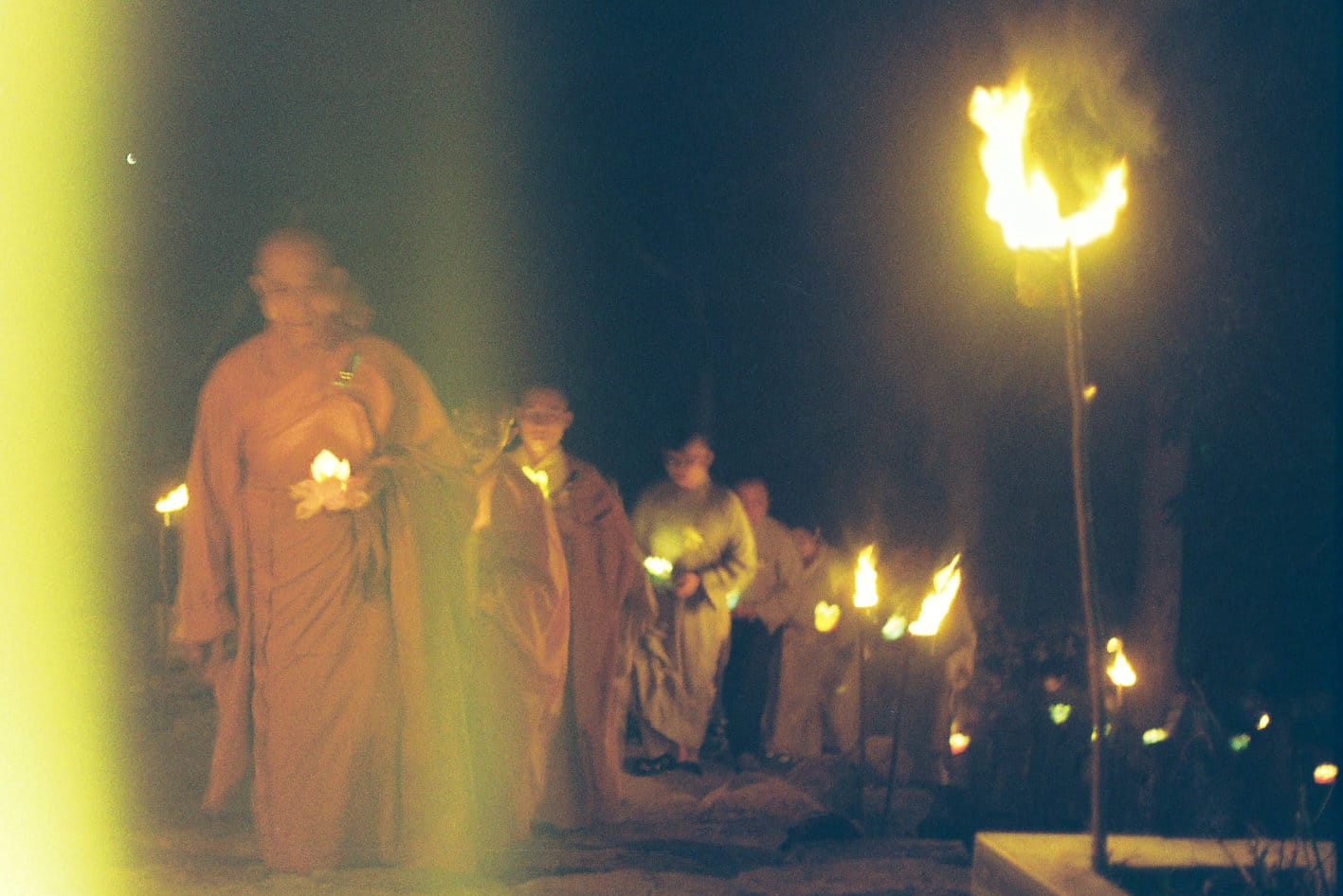 Image of monks on Wandering Soul's Day in Vietnam