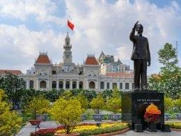 Flower festival at Nguyen Hue street in February, HCMC