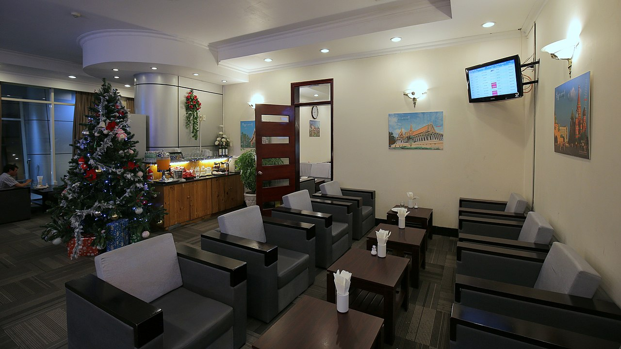 Image of the business lounge in the Cam Ranh International Airport in Vietnam