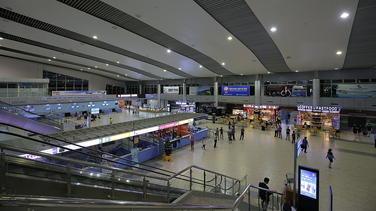 Image of the inside of the Cam Ranh International Airport in Vietnam