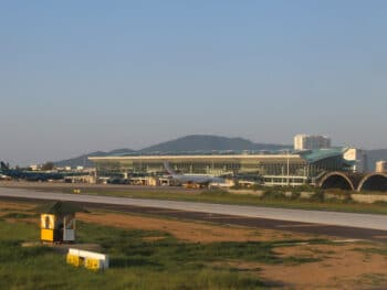 Image of the exterior of the Da Nang International Airport in Vietnam