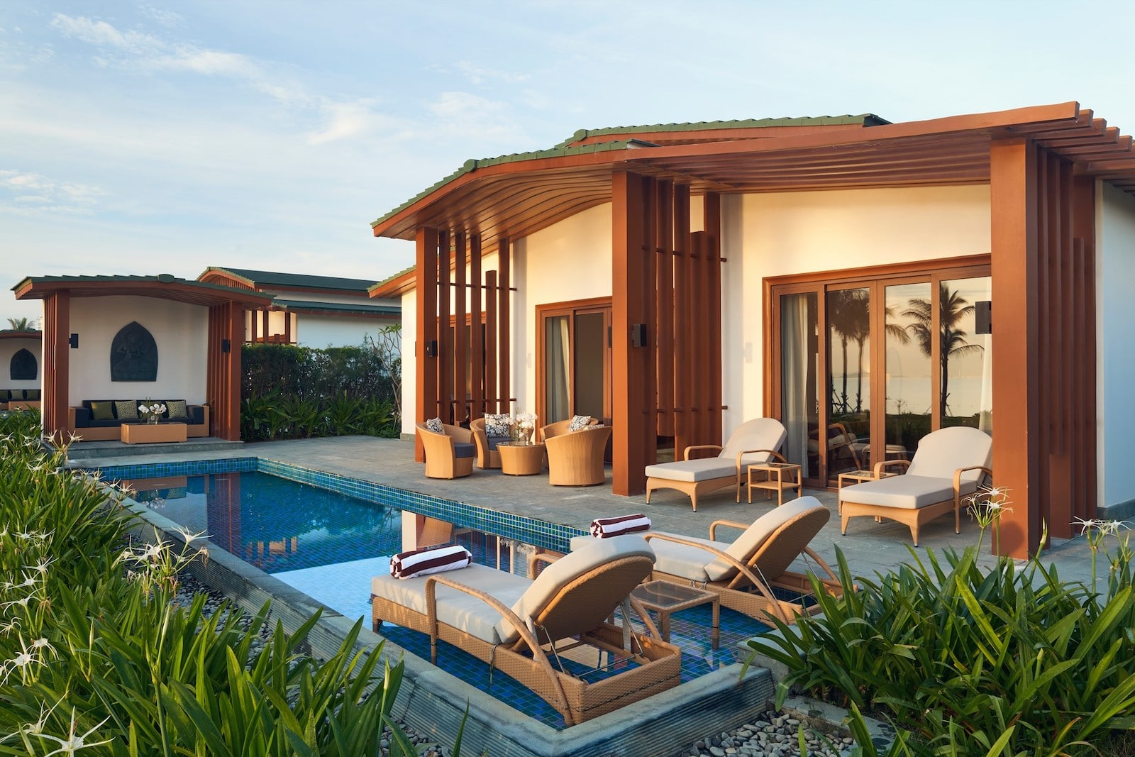 Image of a private room at the Movenpick Resort in Cam Ranh, Vietnam