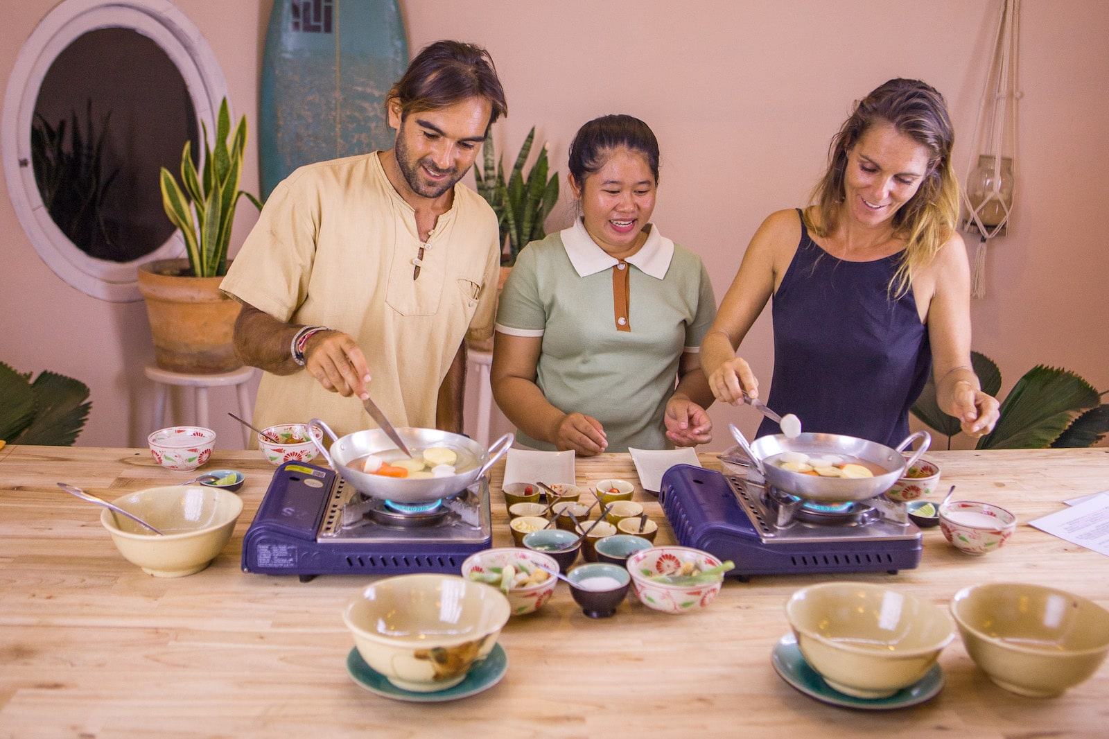 Image of a cooking class at the Mui Ne Cooking School in VIetnam