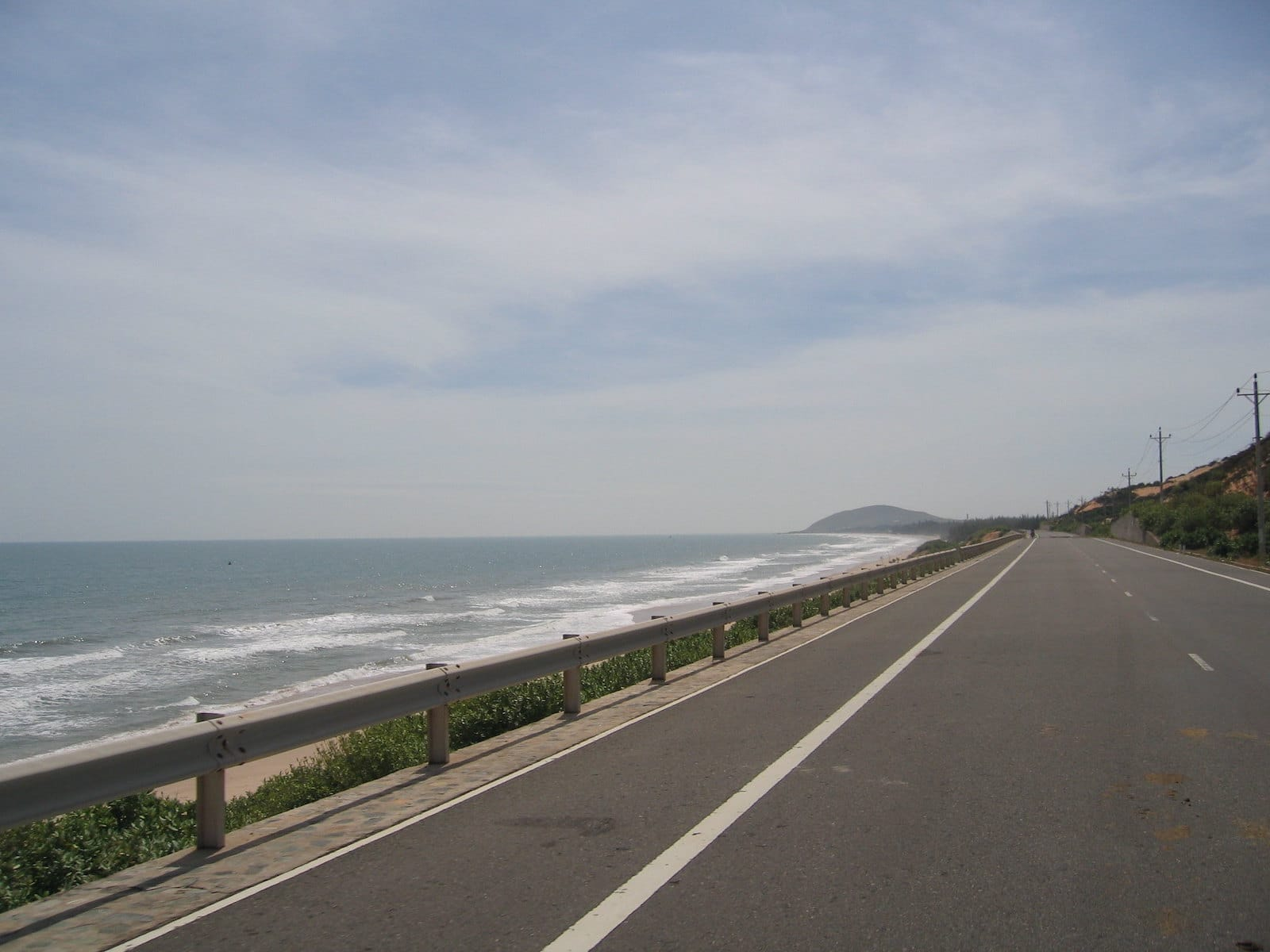 Image of a road by the beach in Mui Ne, Vietnam
