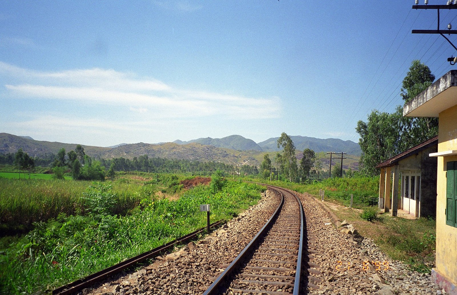 Image of the Reunification Express train tracks near My Son Sanctuary in Vietnam
