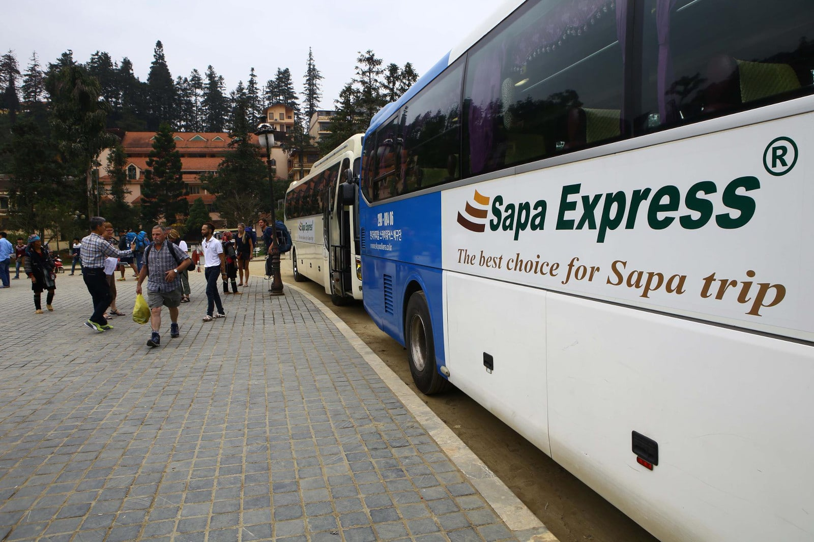 Image of the Sapa Express Bus in Vietnam