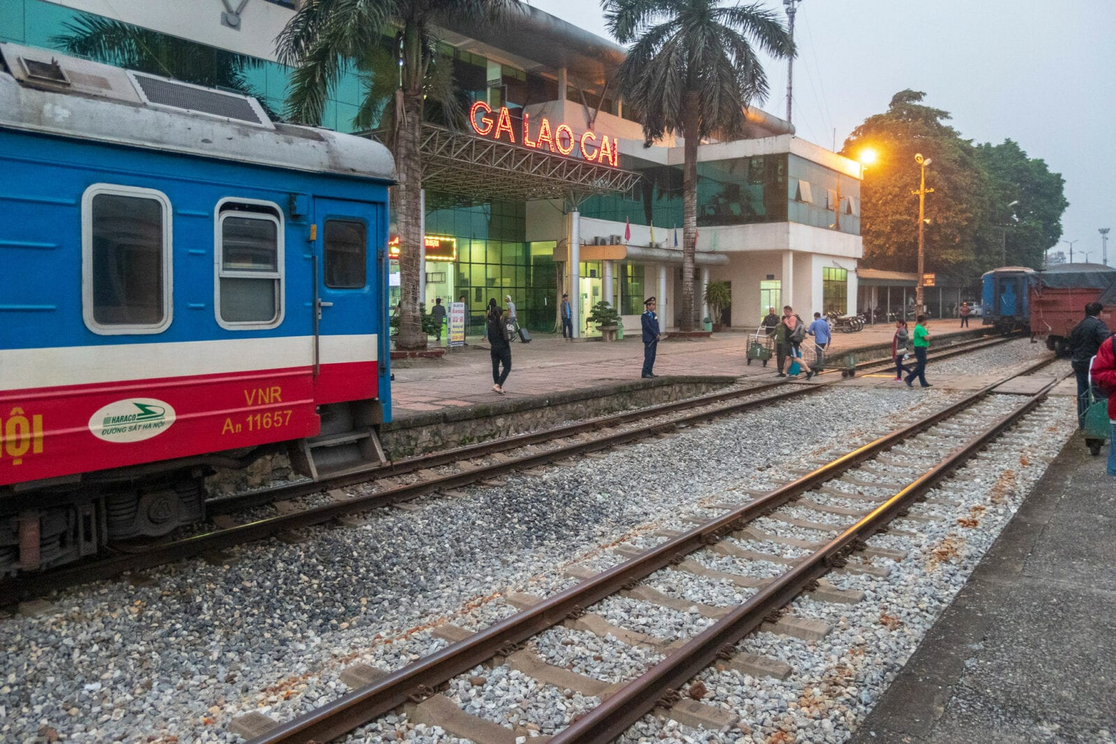 Image of a train in Lao Cai, Vietnam