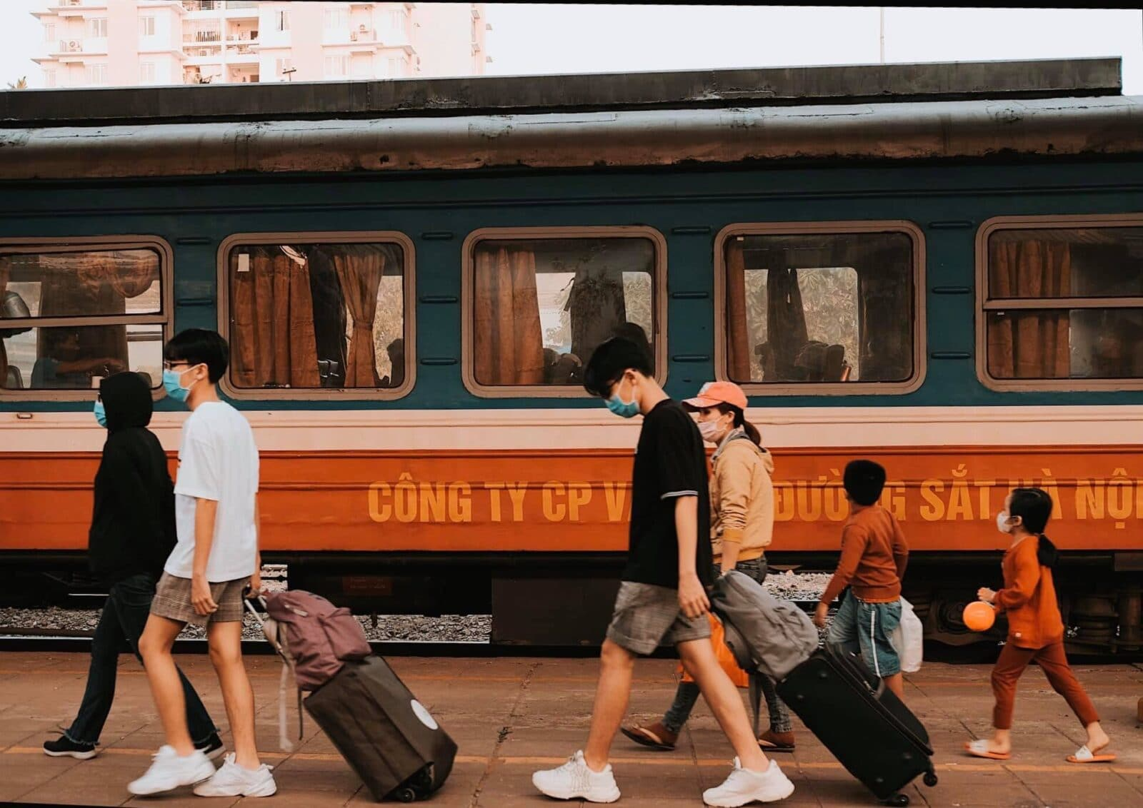 Image of the Sapaly Express Train in Vietnam