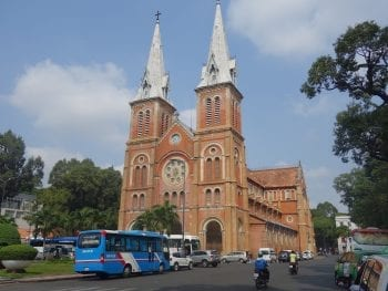 Ho Chi Minh City Cathedrale in March