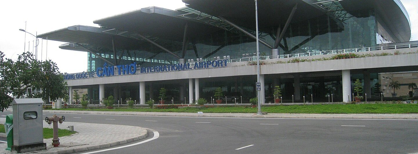Image of the Can Tho International Airport exterior in Vietnam