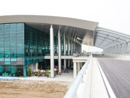 Image of the exterior of Cat Bi International Airport in Vietnam