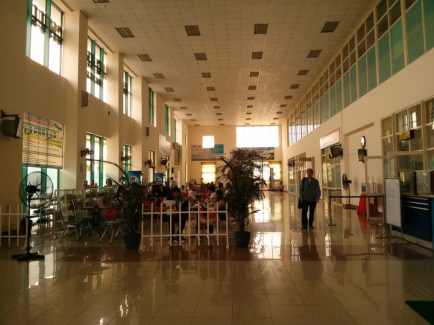 Image of a terminal in Chu Lai Airport in Vietnam