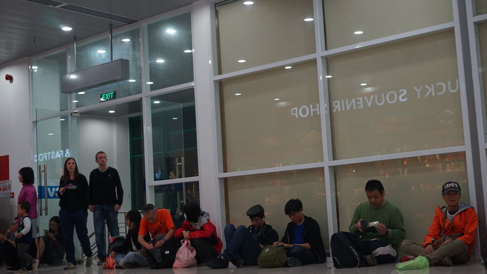 Image of people waiting for their flight at Phu Bai International Airport in Vietnam