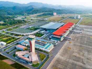 Image of the Van Don International Airport in Vietnam