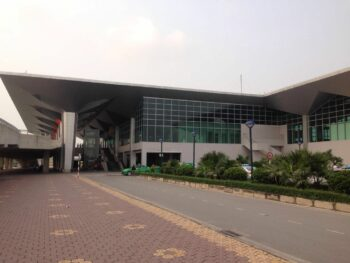 Image of the exterior of Vinh International Airport in Vietnam