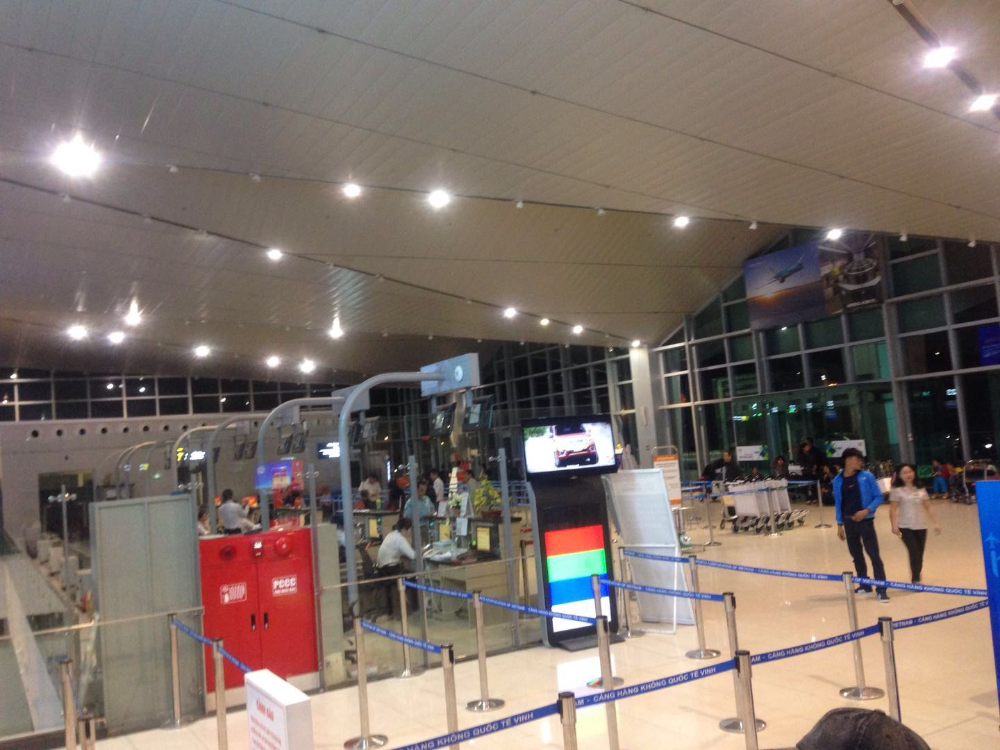 Image of the interior of Vinh International Airport in Vietnam
