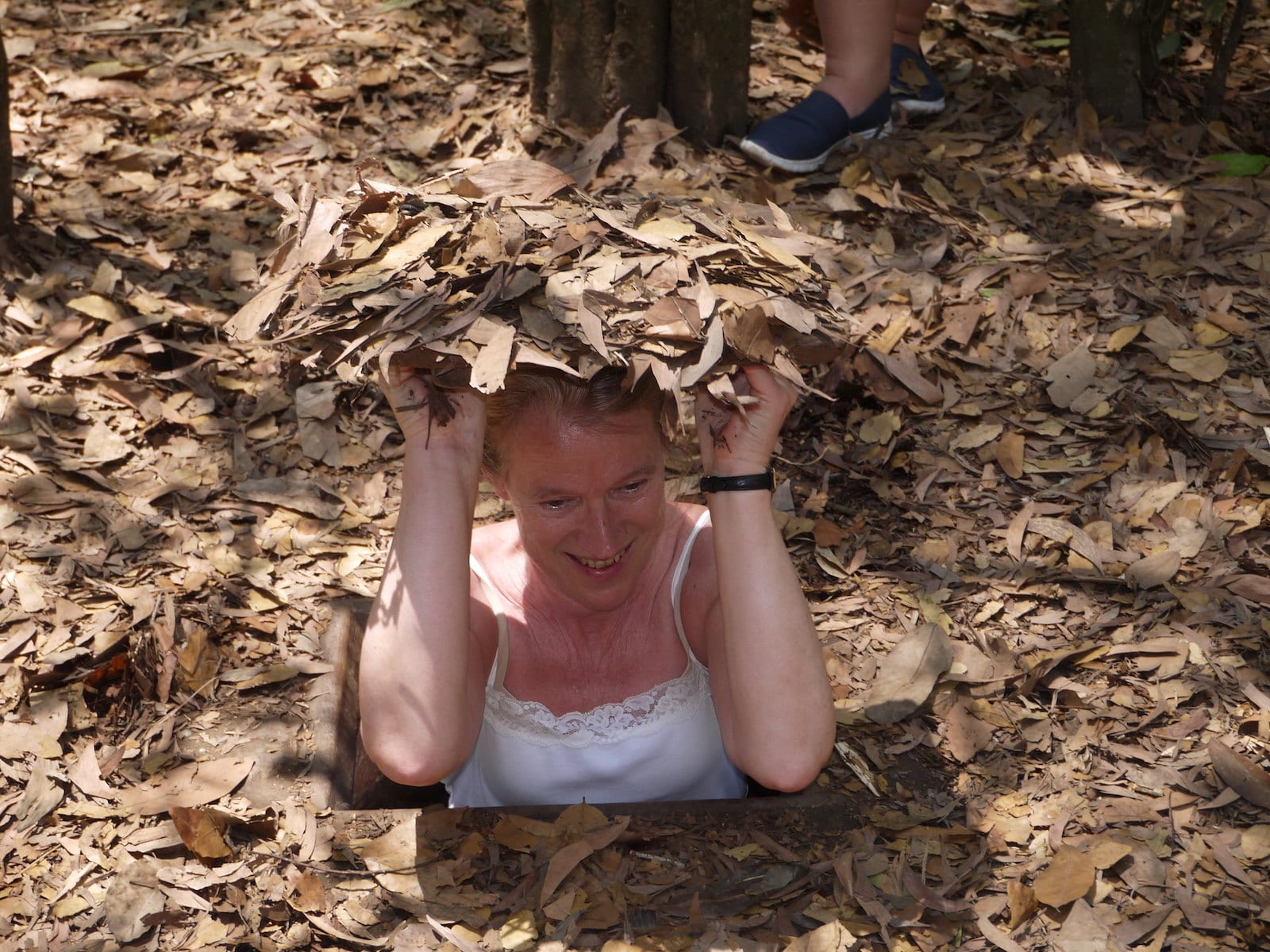 Cu Chi Tunnels in April