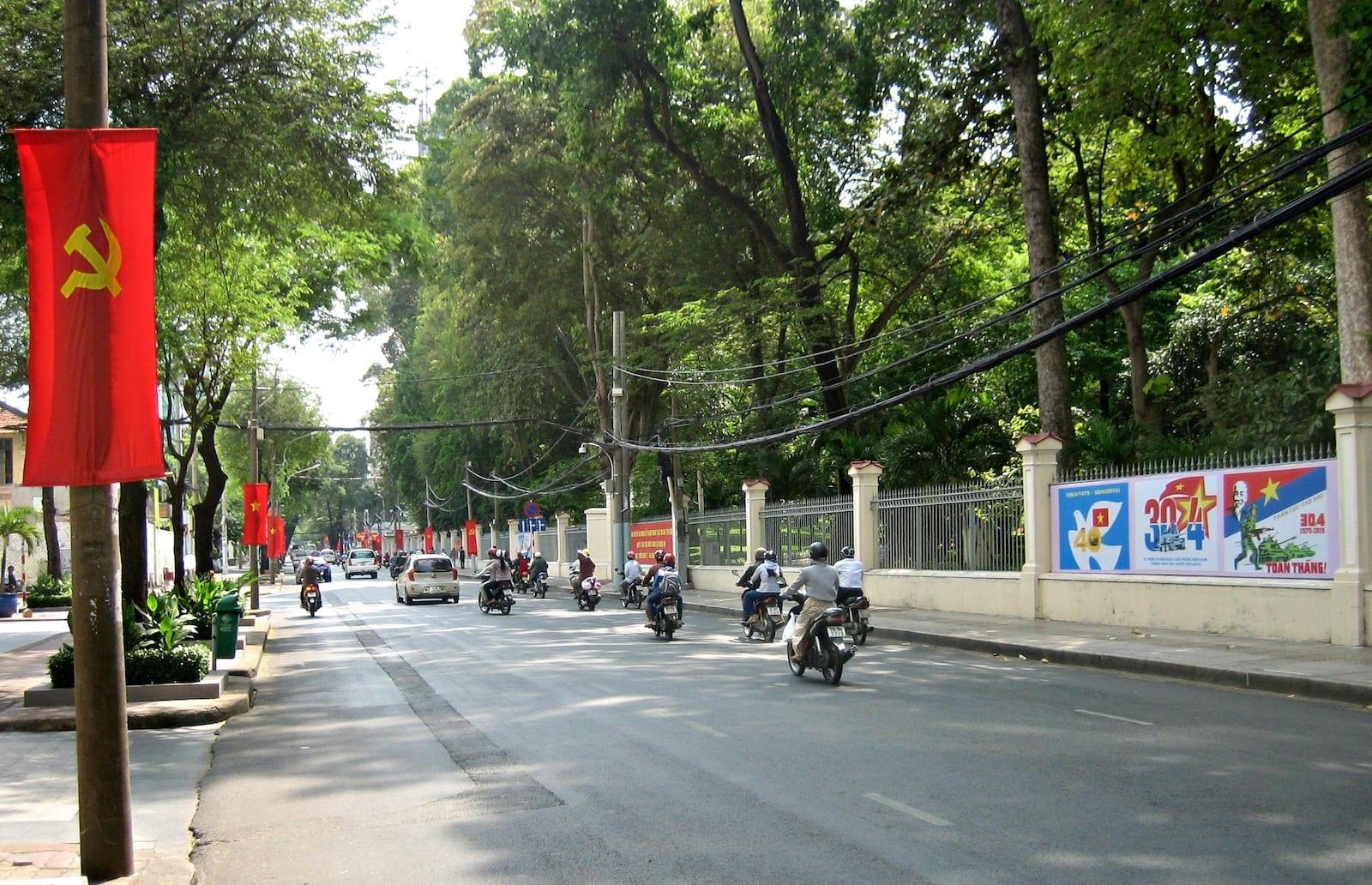 Nguyen Thi Minh Khai Street in April