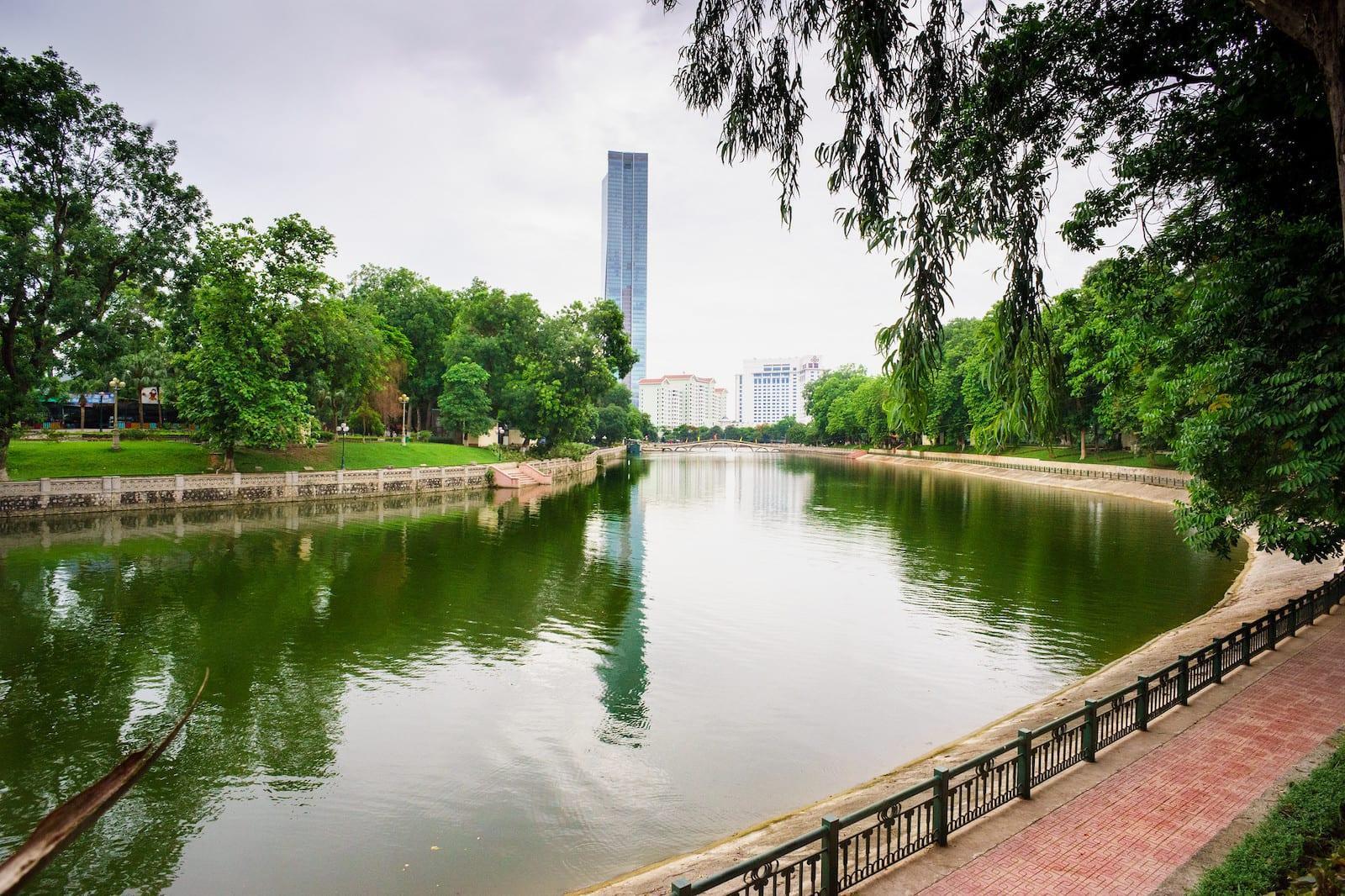 Ho Thu Le lake in July, Hanoi, Vietnam