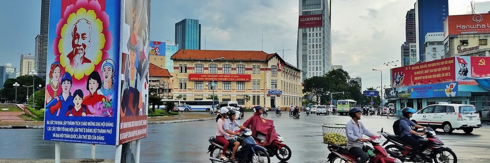 Tran Hung Dao Roundabout in HCMC in July