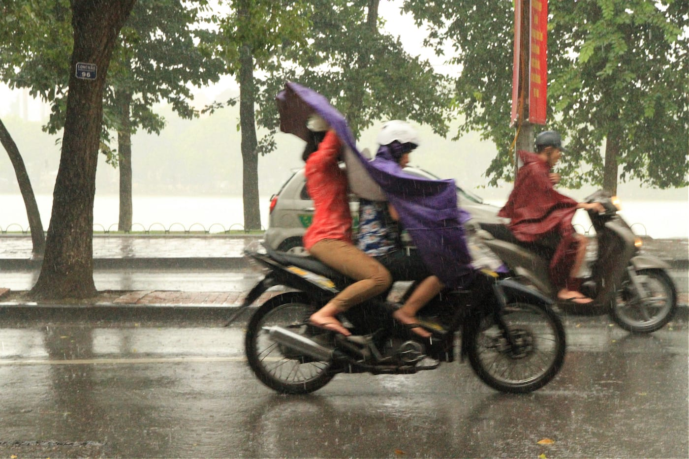 Hanoi raining in August