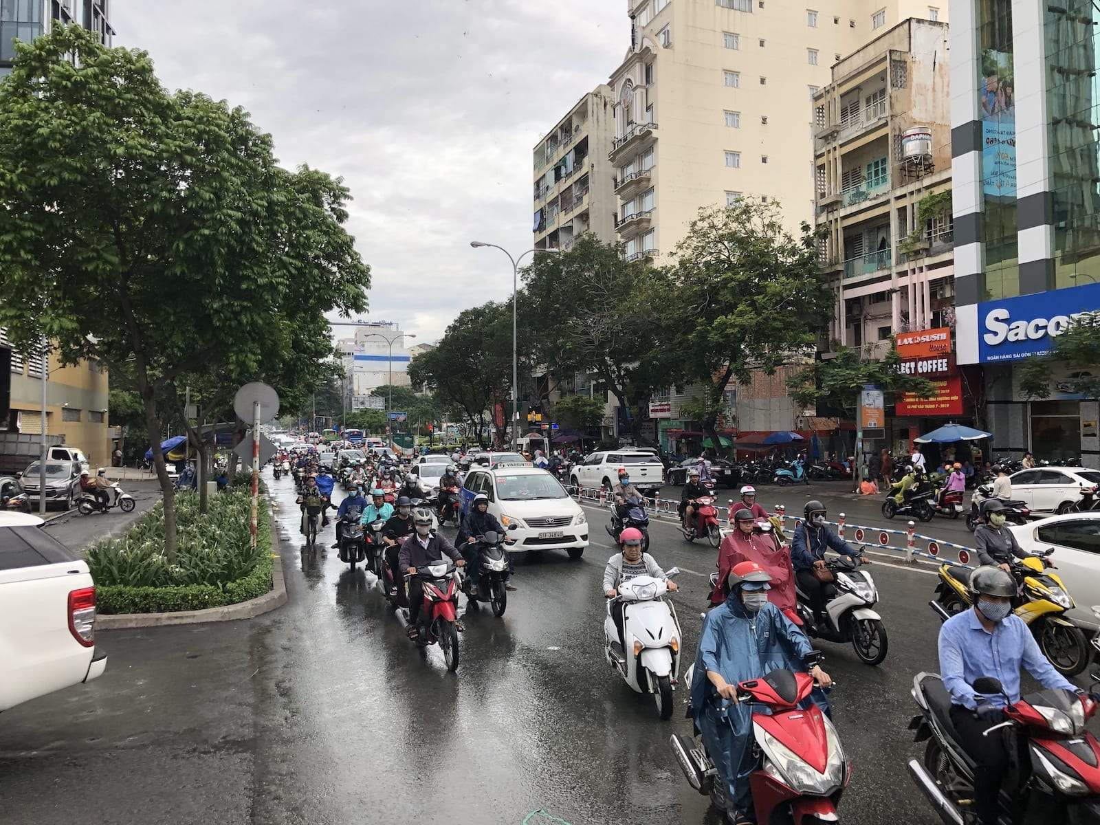 Ho Chi Minh City traffic in August