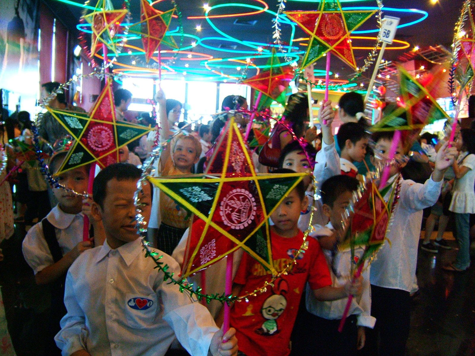 Mid Autumn Festival Vietnam Traditional Lantern Procession