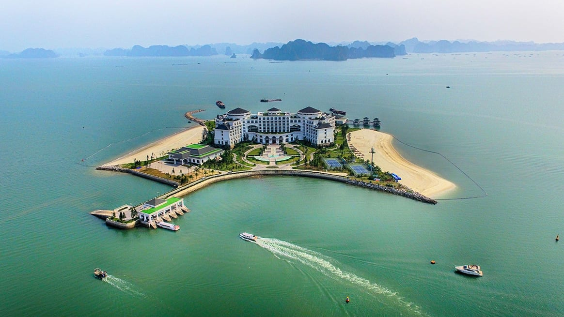 Vinpearl Resort Ha Long Bay Vietnam Aerial View