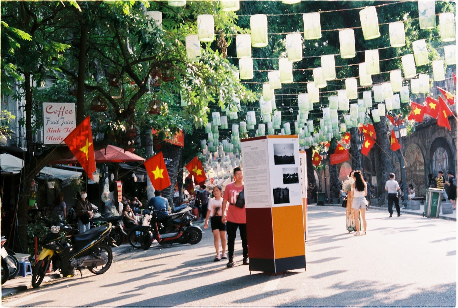 Hanoi street in October
