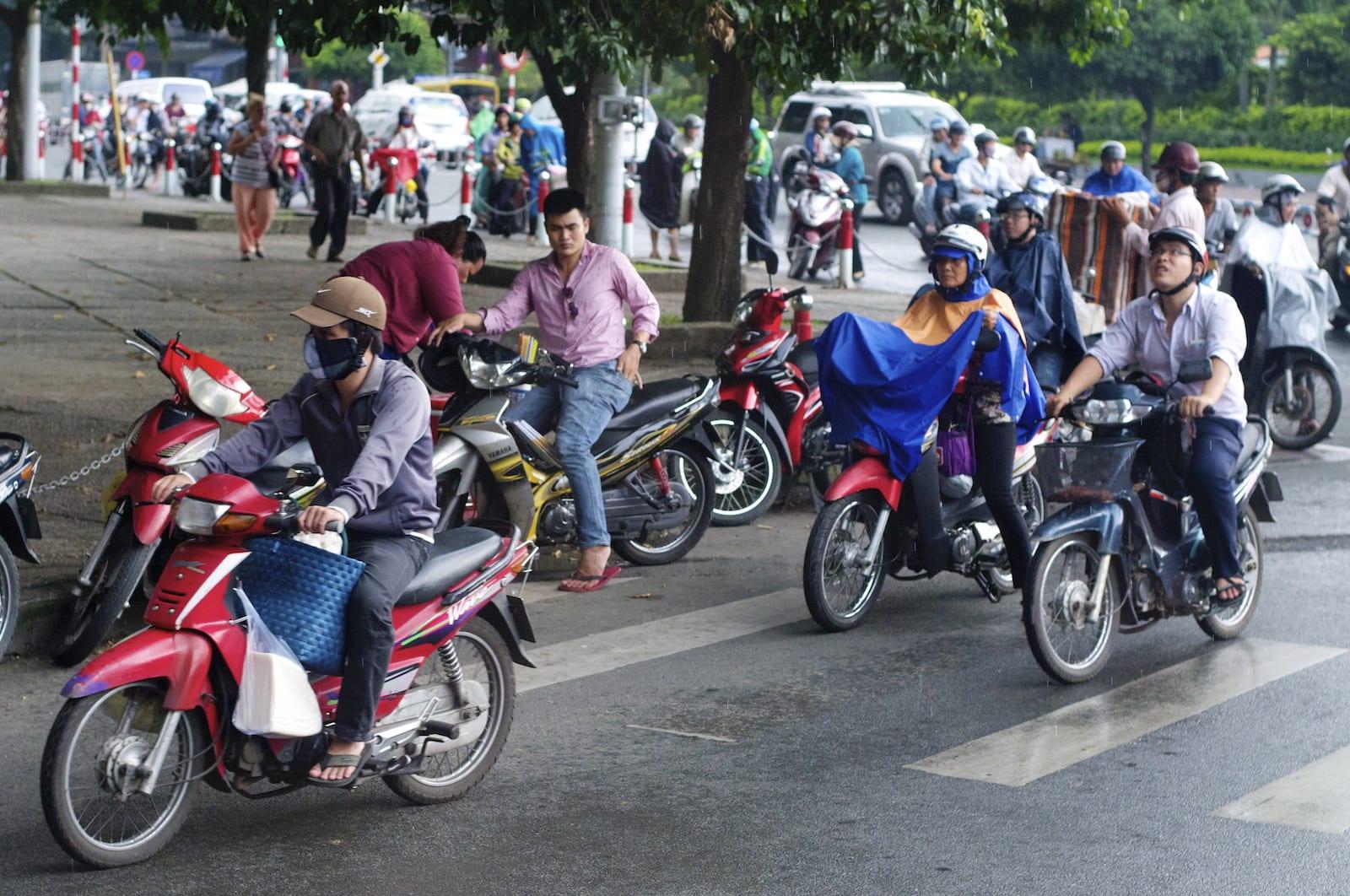 Rain bikes in Ho Chi Minh City, October