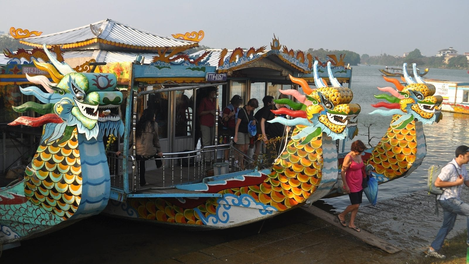 End of the Cruise, Perfume River, Hue
