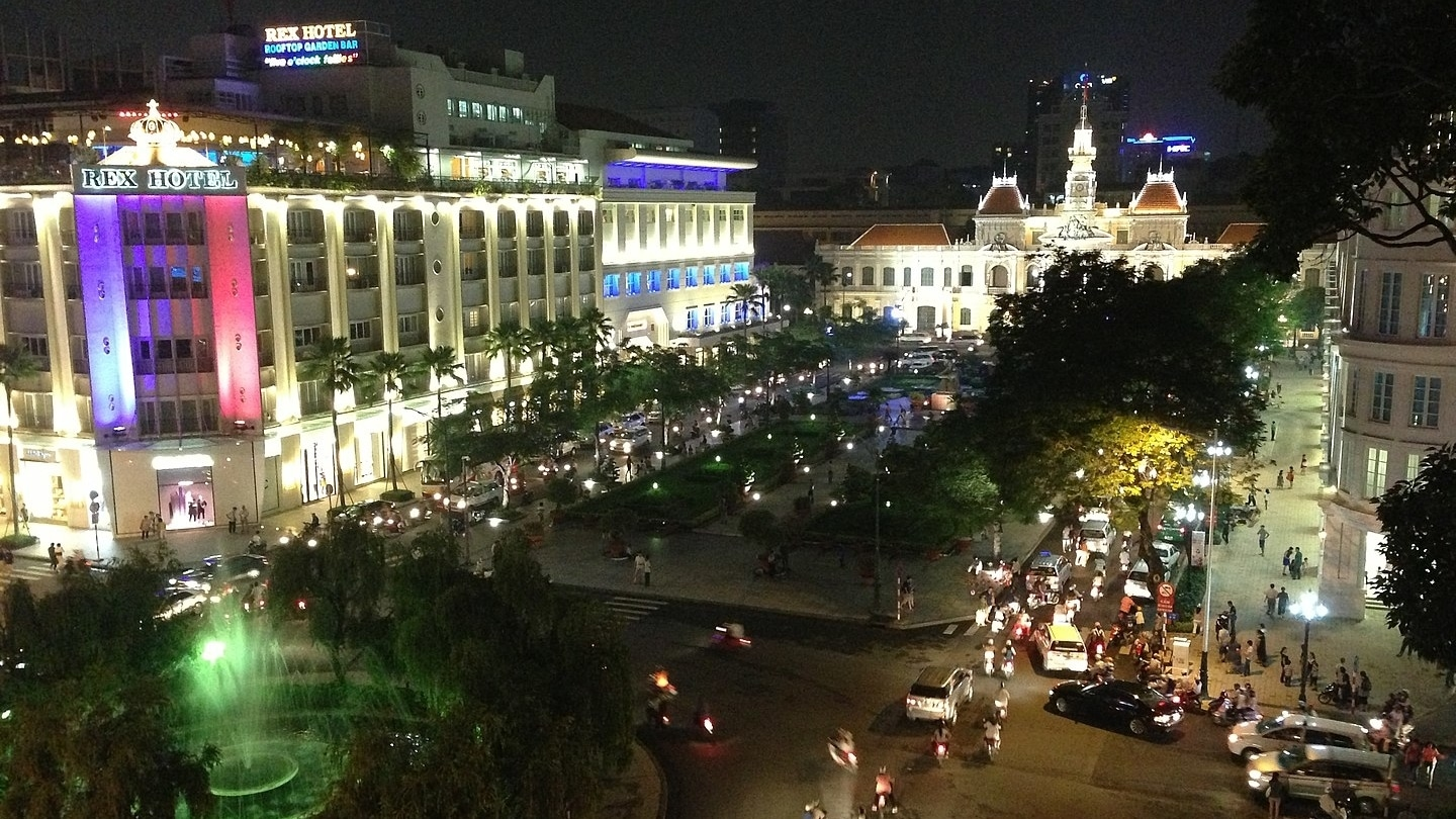 Roundabout in Ho Chi Minh City