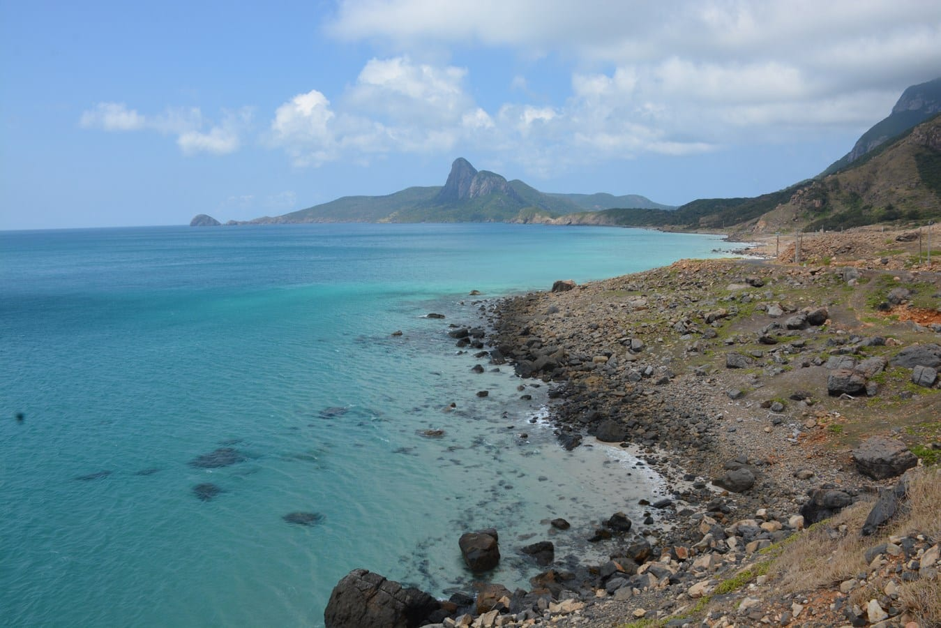 View on Cape of Mui Ca Map, Con Dao