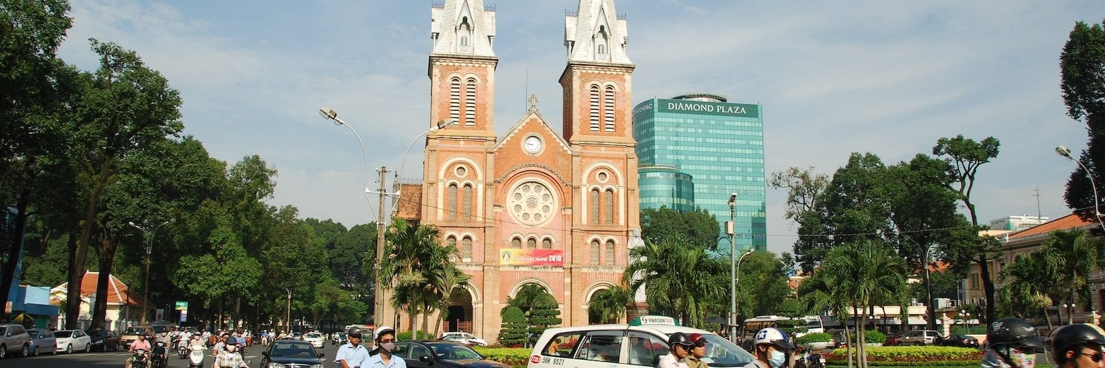 Notre Dame Cathedral in Ho Chi Minh City- December