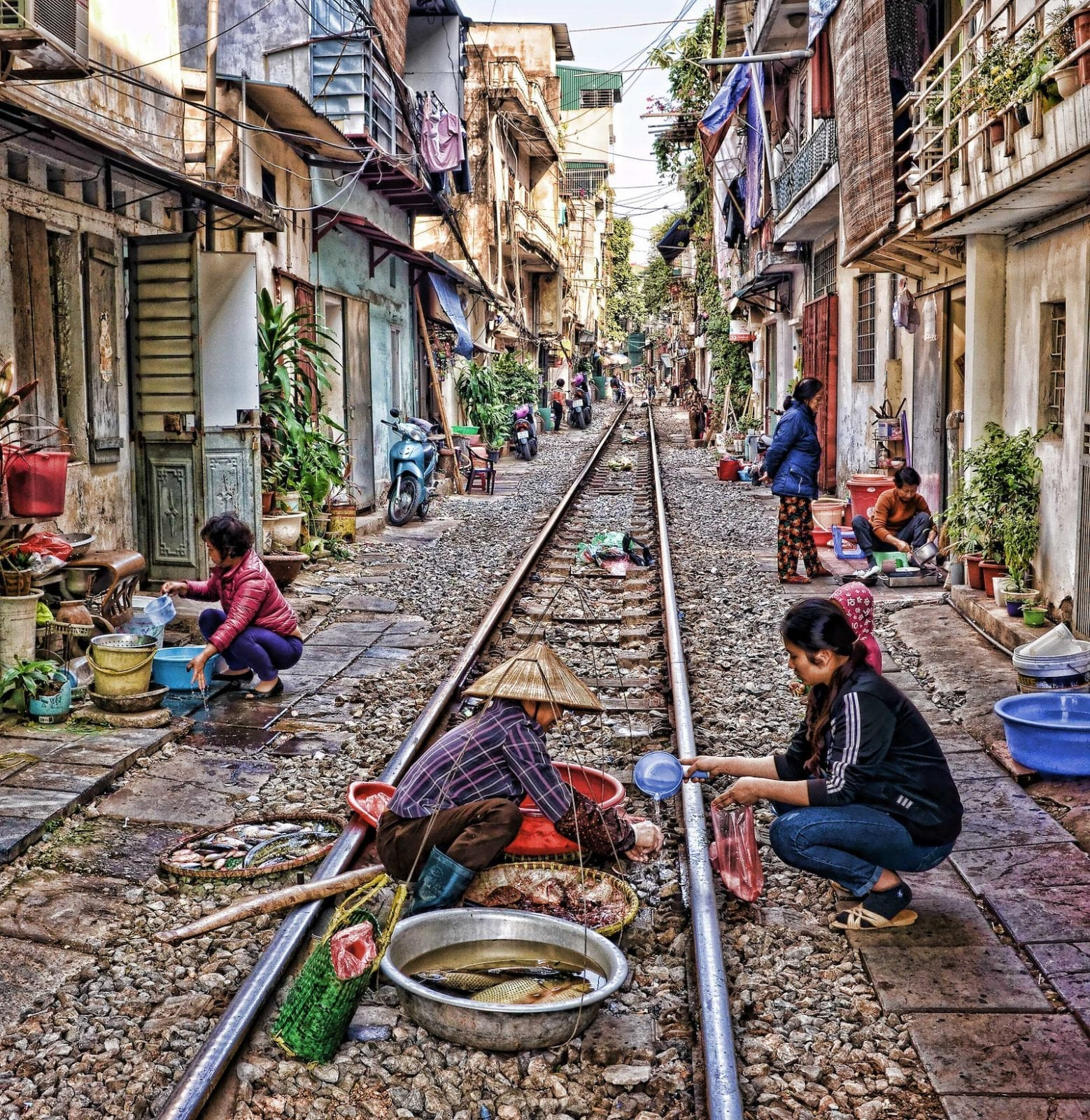 Train street in December, Ha Noi