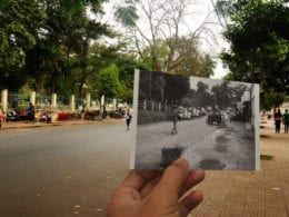 Buon Ma Thuot Vietnam Duong Le Hong Phong 1960s Vintage Photo and Now