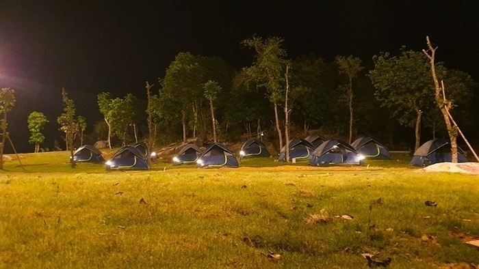 Campground in Bach Ma Village