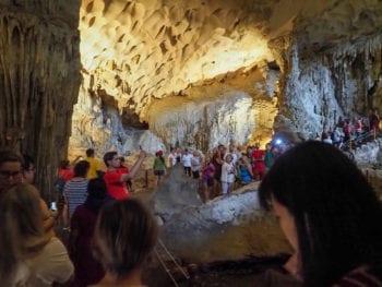 Inside Sung Sot Cave- Ha Long Bay