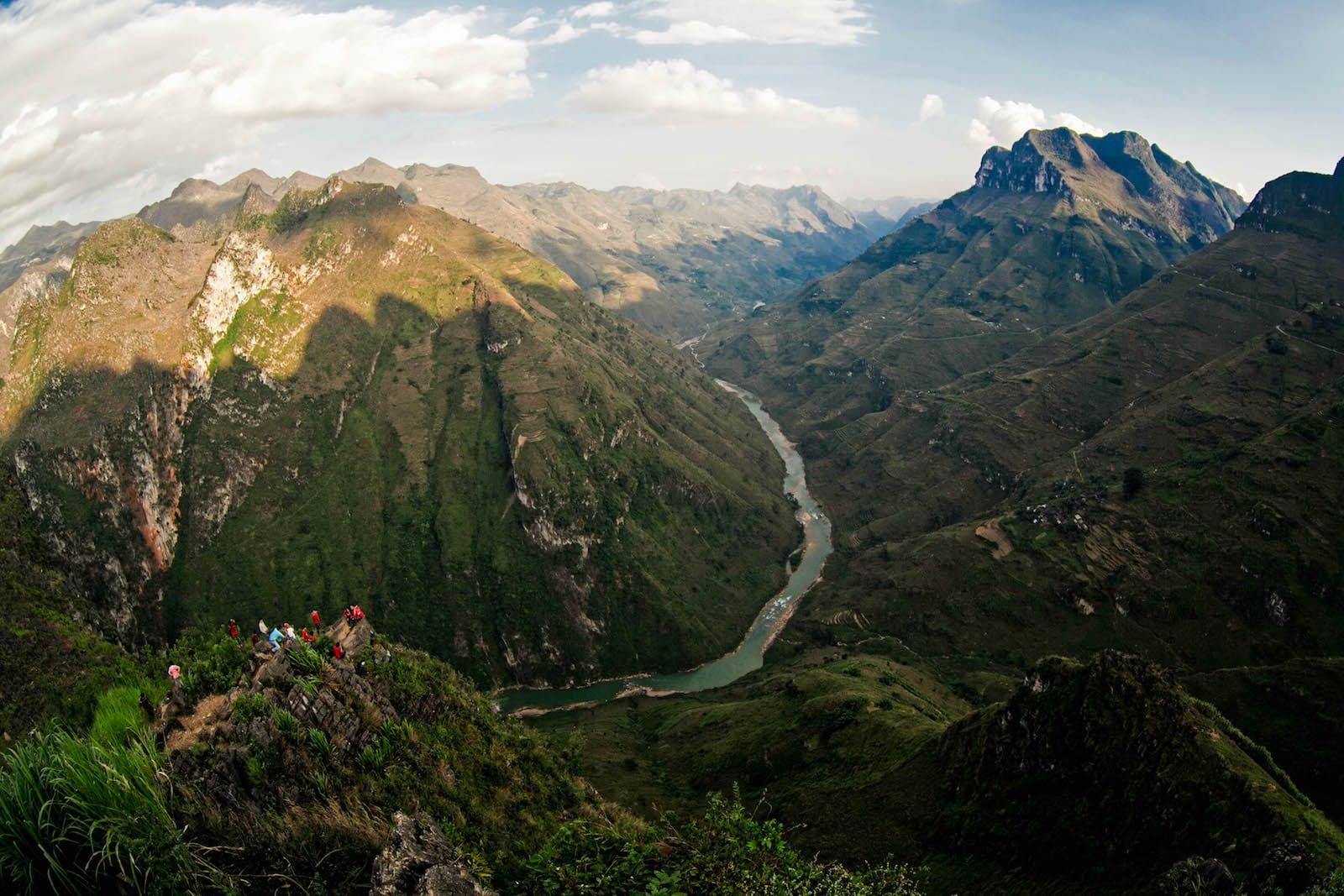 Nho Que River fom Mã Pí Lèng Pass, Ha Giang