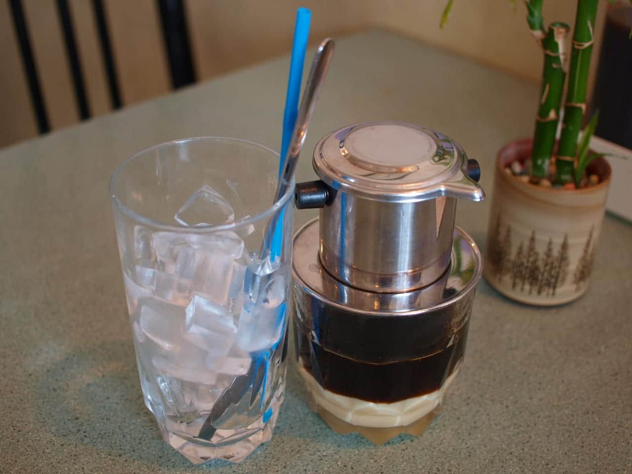 Chi Lan Calgary Vietnamese Restaurant Iced Coffee with milk