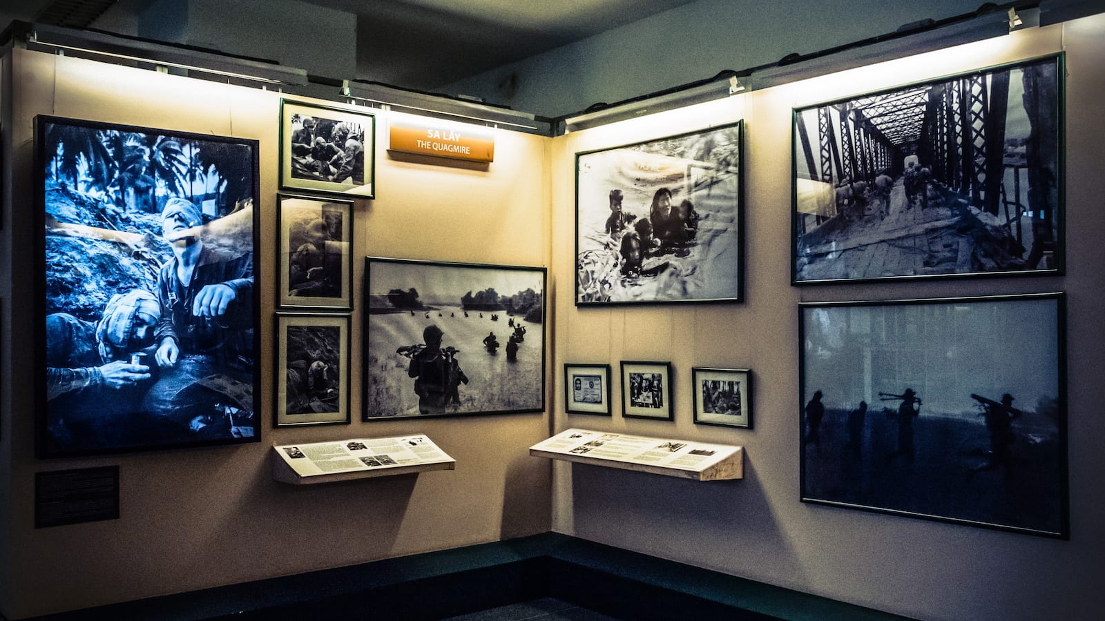 One of the exhibits inside the War Remnants Museum in Saigon